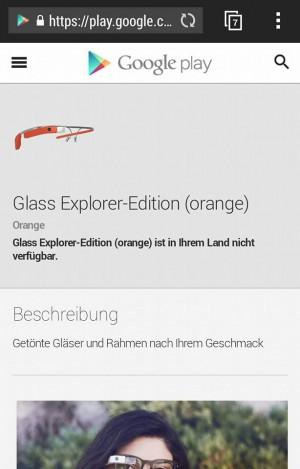 Google Glass noch nicht in Deutschland verfügbar